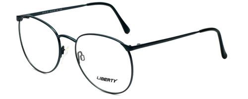 Liberty Optical Designer Reading Glasses LA-4C-6 in Antique Teal with Blue Light Filter + A/R Lenses