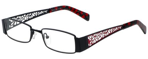 Calabria Designer Eyeglasses 812-BLK in Black 49mm :: Rx Single Vision
