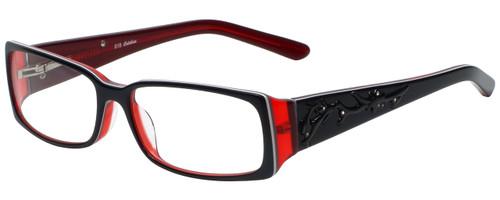 Calabria Designer Eyeglasses 818-BLK in Black 52mm :: Custom Left & Right Lens