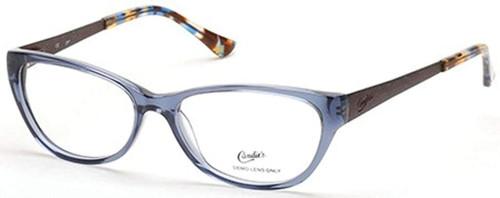 Candies Designer Eyeglasses CA0117-086 in Transparent Blue 53 mm :: Custom Left & Right Lens