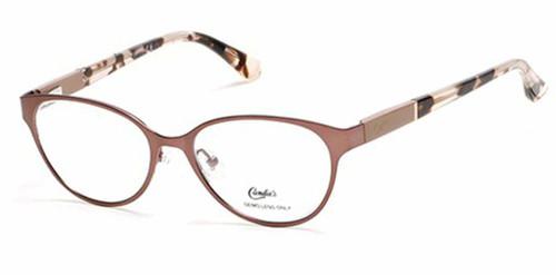 Candie's Designer Eyeglasses CA0139-047 in Satin Brown 50 mm :: Custom Left & Right Lens