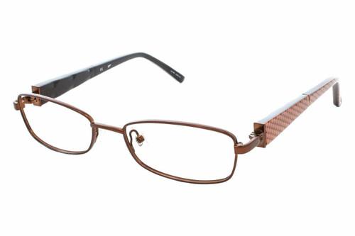 Candie's Designer Eyeglasses DENA-SBRN in Satin Brown 50 mm :: Custom Left & Right Lens