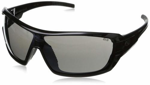 Gargoyles Shield Sunglasses in Black with Smoke Lenses