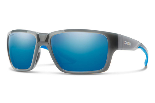 Smith Optics Outback Polarized Sunglasses in Cloud Grey Fade with Blue Mirror Lenses