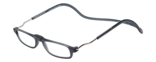 Clic Magnetic Eyewear XL Fit in Matte Grey :: Custom Left & Right Lens