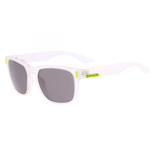 Dragon Alliance Monarch Sunglasses in Matte Crystal with Grey Lenses