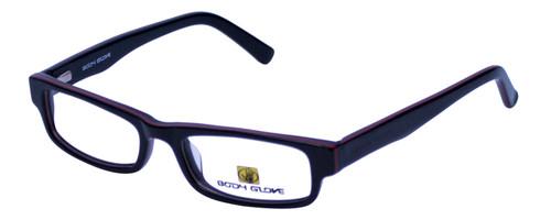 Body Glove Designer Eyeglasses BB113 in Black Red KIDS SIZE :: Rx Single Vision