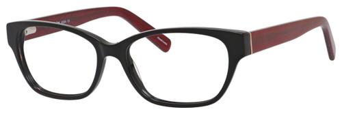 Marie Claire Designer Eyeglasses MC6224-BKR in Black Red 54mm :: Custom Left & Right Lens