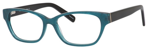Marie Claire Designer Eyeglasses MC6224-TLB in Teal Black 54mm :: Rx Single Vision