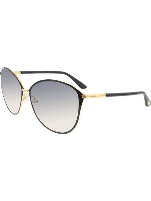 Tom Ford Designer Sunglasses Penelope FT0320-28B in Black with Grey Gradient Lenses