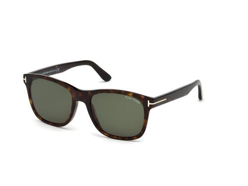 Tom Ford Designer Sunglasses Eric FT0595-52N in Havana with G15 Green Lenses