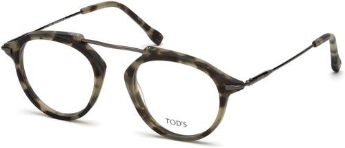 Tod's Designer Eyeglasses TO5181-056 in Havana 48mm :: Progressive