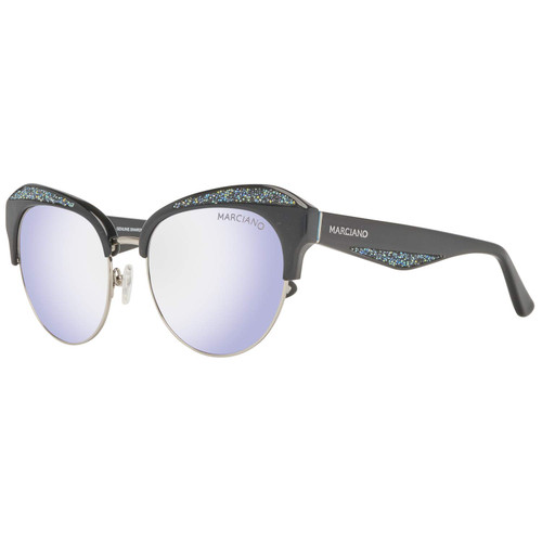 Guess  Designer Sunglasses GM0777-01C in Black with Silver Mirror Lenses