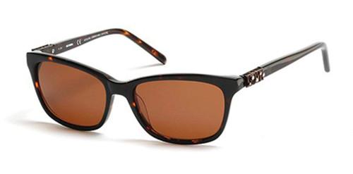 Harley-Davidson Official Designer Sunglasses HD0305X-52E in Tortoise with Amber Lenses