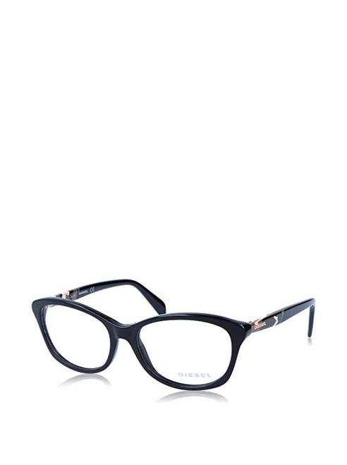 Diesel Designer Eyeglasses DL5088-A01 in Black 53mm :: Custom Left & Right Lens