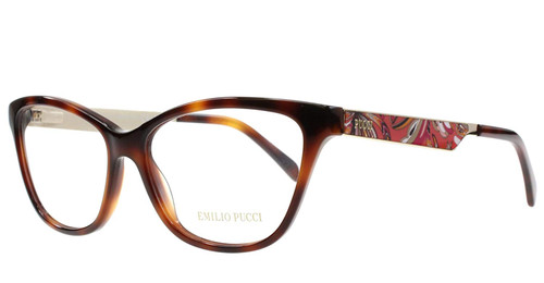 Emilio Pucci Designer Reading Glasses EP5012-052 in Havana 54mm :: Rx Single Vision