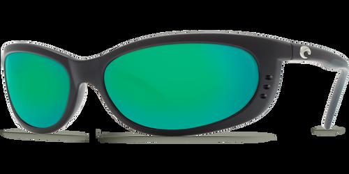 Costa Del Mar Fathom Polarized Sunglasses in Black with Green Mirror 580G Glass Lens