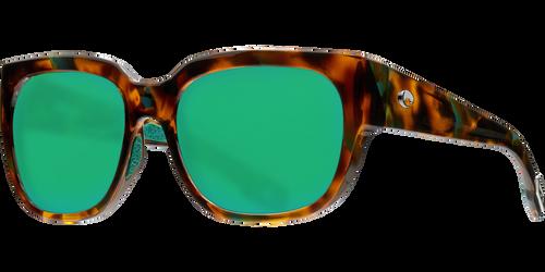 Costa Del Mar Waterwoman Polarized Sunglasses in Palm Tortoise with Green Mirror 580P Lens