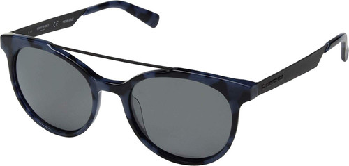 Kenneth Cole Polarized Sunglasses KC7226-55D in Navy Tortoise with Grey Lens