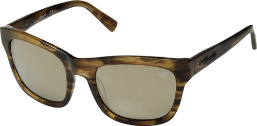 Kenneth Cole Designer Sunglasses KC7201-62C in Havana with Gold Mirror Lens