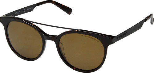Kenneth Cole Polarized Sunglasses KC7226-52H in Tortoise with Amber Lens