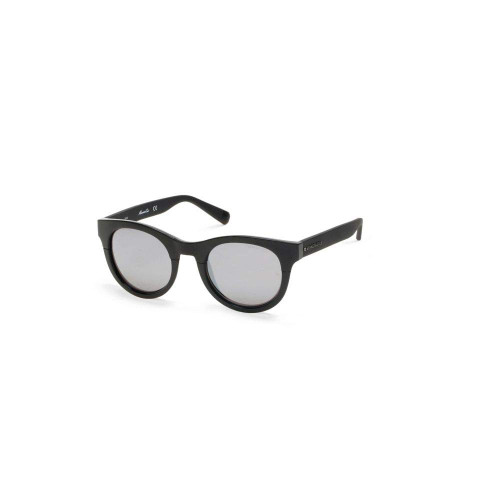 Kenneth Cole Designer Sunglasses KC7211-01C in Black with Silver Mirror Lens