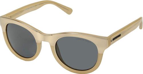 Kenneth Cole Designer Sunglasses KC7211-58D in Gold Beige with Grey Lens
