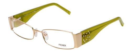 Fendi Designer Eyeglasses F923R-714 in Gold Green 52mm :: Custom Left & Right Lens