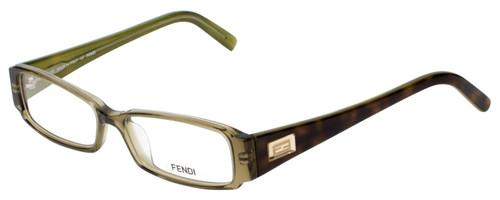 Fendi Designer Eyeglasses F891-315 in Olive Green 52mm :: Rx Single Vision