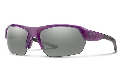 Smith Optics TEMPO Polarized Sunglasses in Violet Spray with Platinum Mirror Lens