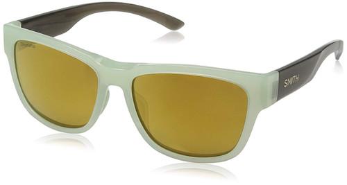 Smith Optics Ember Polarized Sunglasses in Ice Smoke with Bronze Mirror Lens