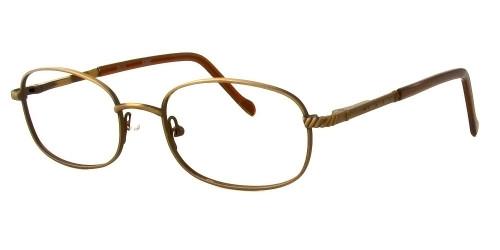 Reptile Designer Eyeglasses Skink in Matte Bronze :: Custom Left & Right Lens