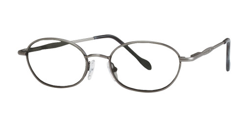 Reptile Designer Eyeglasses Sungazer in Pewter :: Custom Left & Right Lens