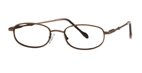 Reptile Designer Eyeglasses Monitor in Bronze :: Rx Single Vision