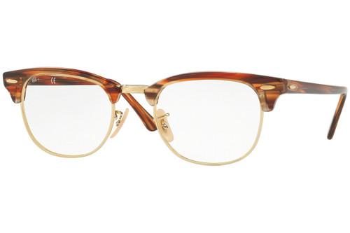 Ray Ban Designer Reading Eye Glasses RX5154-5751 Brown/Beige Striped 49mm