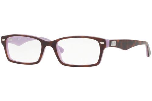 Ray Ban Designer Reading Eye Glasses RX5206-5240-52 Havana/Opal Violet 52mm