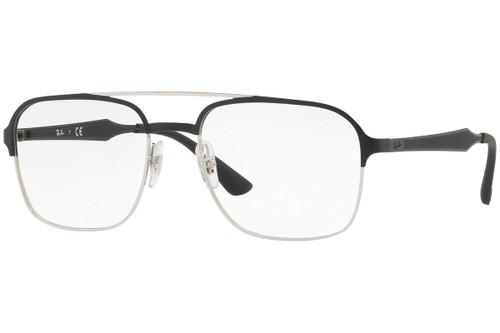 Ray Ban Designer  Reading Eye Glasses RX6404-2861-54 Silver/Black 54mm