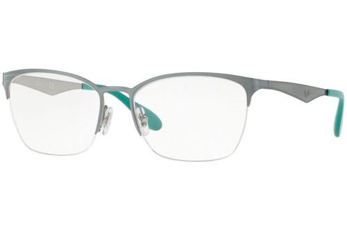 Ray Ban Designer  Reading Eye Glasses RX6345-2919-54 Silver/Light Green 54mm