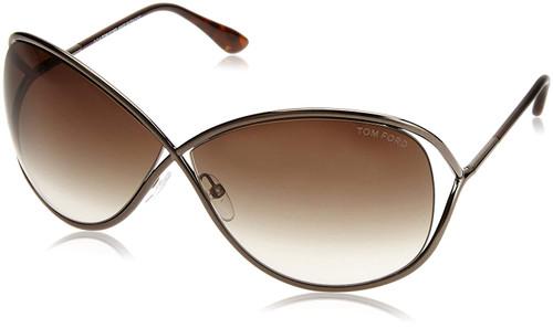 Tom Ford Designer Sunglasses Miranda FT0130-36F in Bronze with Brown Gradient Lens 68mm
