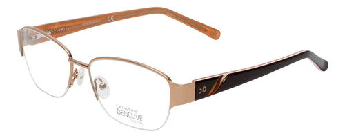 Catherine Deneuve Prescription Eyeglasses Gold CD0406 032 Custom Left&Right Lens