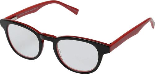 EyeBobs Take A Stand Designer Reading Eye Glasses in Black/Crystal Red 2600-01
