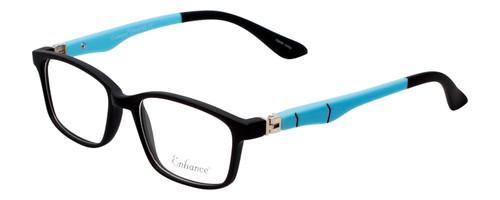 Enhance Kids Prescription Eyeglasses EN4143 44 mm Matte Black/Blue Custom Lenses