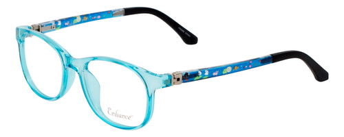 Enhance Kids Prescription Eyeglasses EN4132 46mm Crystal Blue/Matte Black Custom