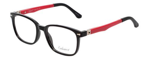 Enhance Kids Prescription Eyeglasses EN4118 48 mm Glossy Matte Black/Red Rx Base
