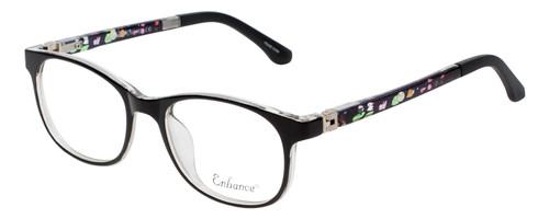 Enhance Kids Prescription Eyeglasses EN4132 46 mm Glossy Matte Black/Crystal Rx