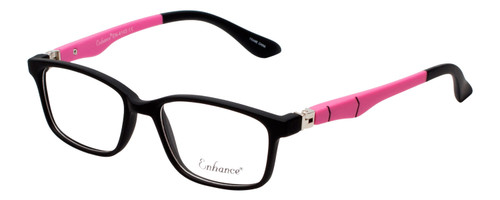 Enhance Kids Prescription Glasses EN4143 44 mm Matte Black/Pink Rx Single Vision
