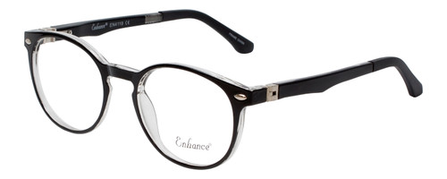 NY Eye Enhance Kids Reading Glasses Glossy Matte Black/Crystal Clear EN4119 46mm