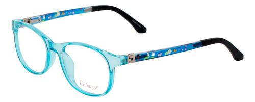 NY Eye Enhance Kids Designer Reading Glasses Crystal Blue/Matte Black 4132 46 mm