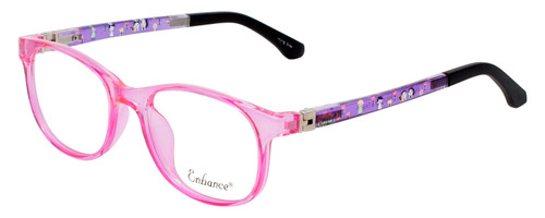 NY Eye Enhance Kids Designer Reading Glasses Crystal Pink/Matte Black 4132 46 mm