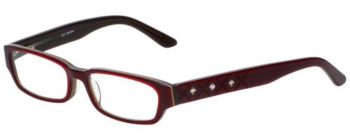 Calabria Designer Reading Glasses 820 in Red with Blue Light Filter + A/R Lenses